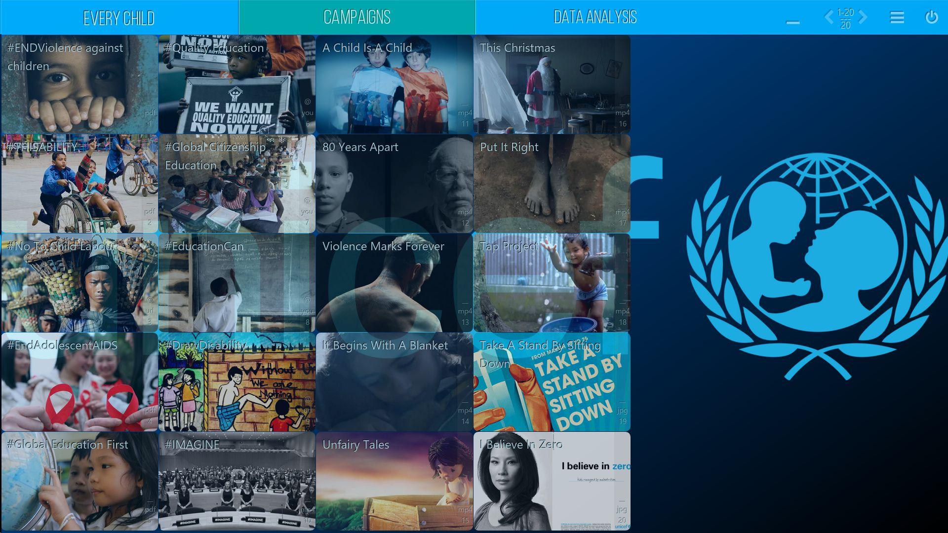 UNICEF - Mediaboard - Home DE